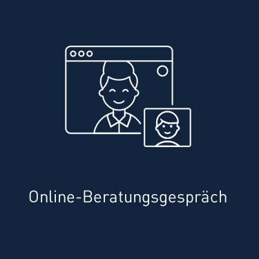 Online-Beratungsgespräch