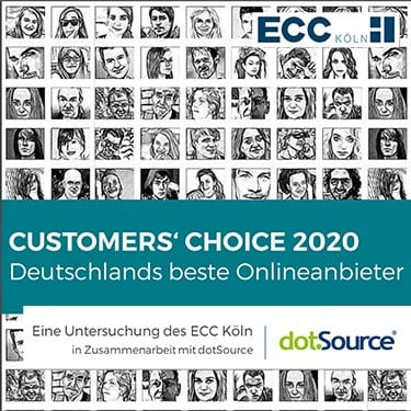 Customers' Choice 2020 - Deutschlands beste Onlineanbieter