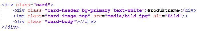 Statische Webseite-Produkt Element